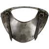 larp dark metal gorget