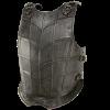 larp dark metal breastplate