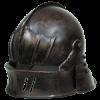 larp sallet dark metal helmet