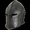 larp metal visored helmet