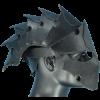 larp leather helmet