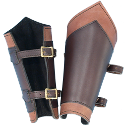 larp leather greaves