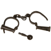 larp handcuffs with key