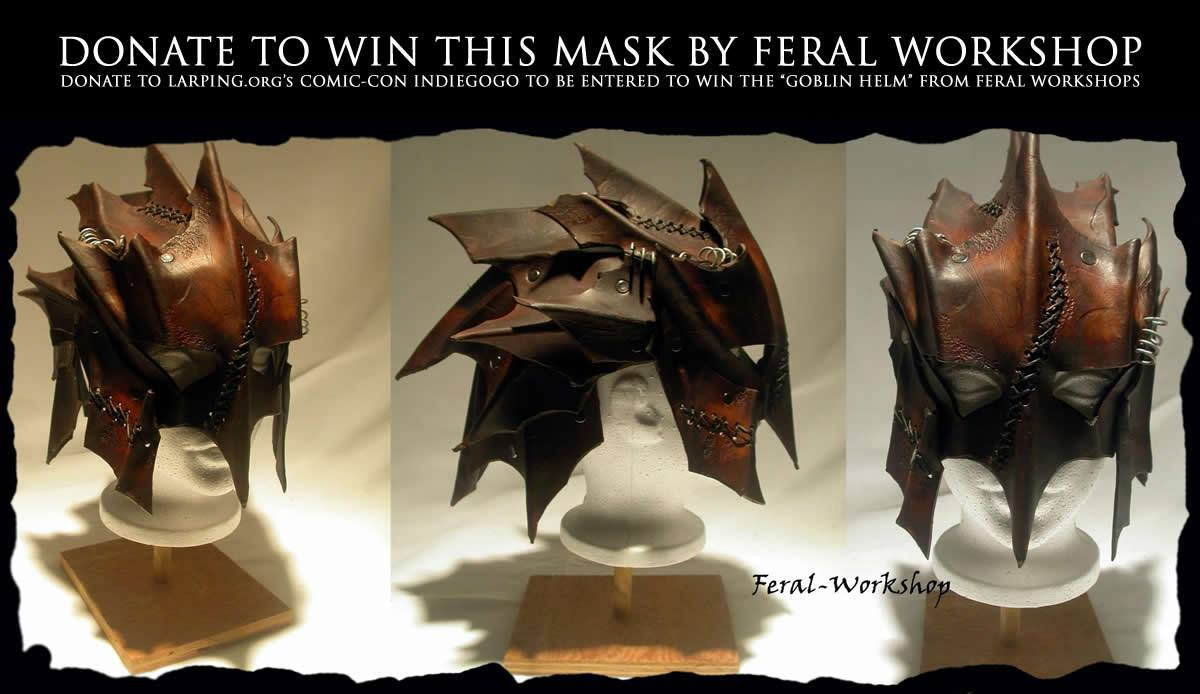 Feral Workshop Goblin Helm Giveaway! Support our Indiegogo to Win!