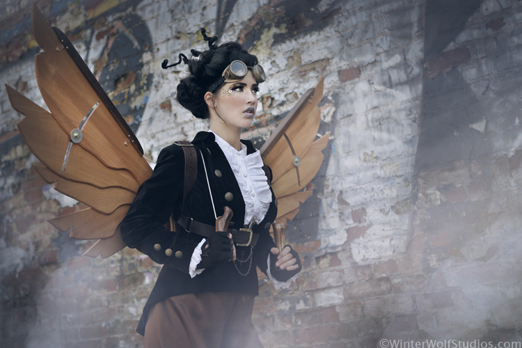 Steampunk Girl with Wings