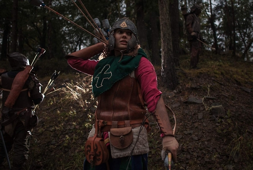 Archer in the woods.