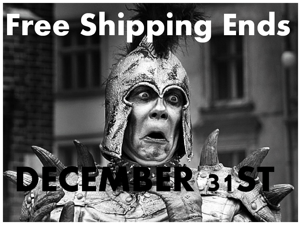 Larp Shop Update: Free Shipping Ends December 31st!
