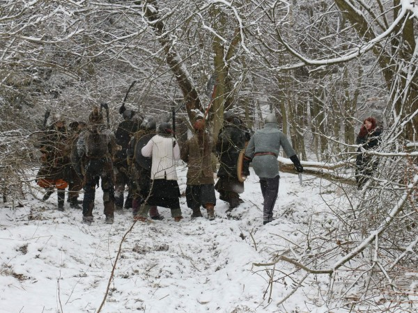 Snow Larping at it's finest! Masopust (Carnival) 2014