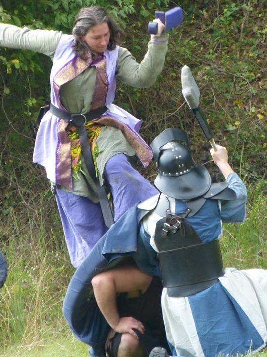 Dagorhir Shield Jump Attack