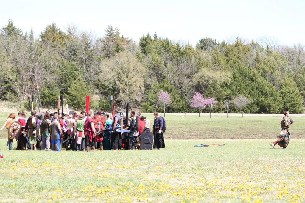 Dagorhir Battle Huddle