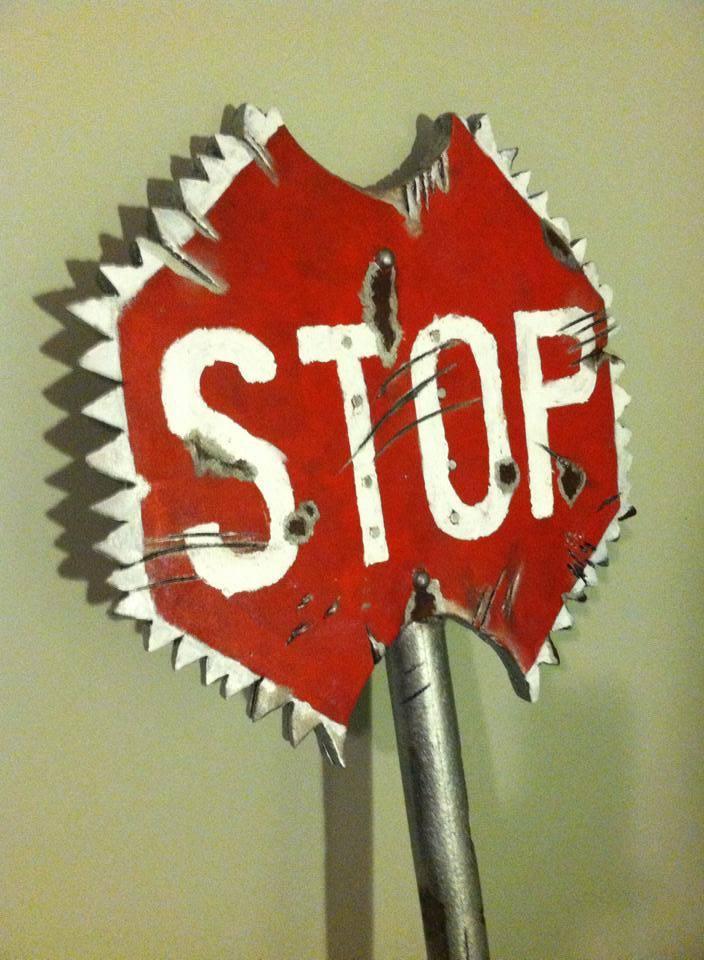 Stop Sign Ax close