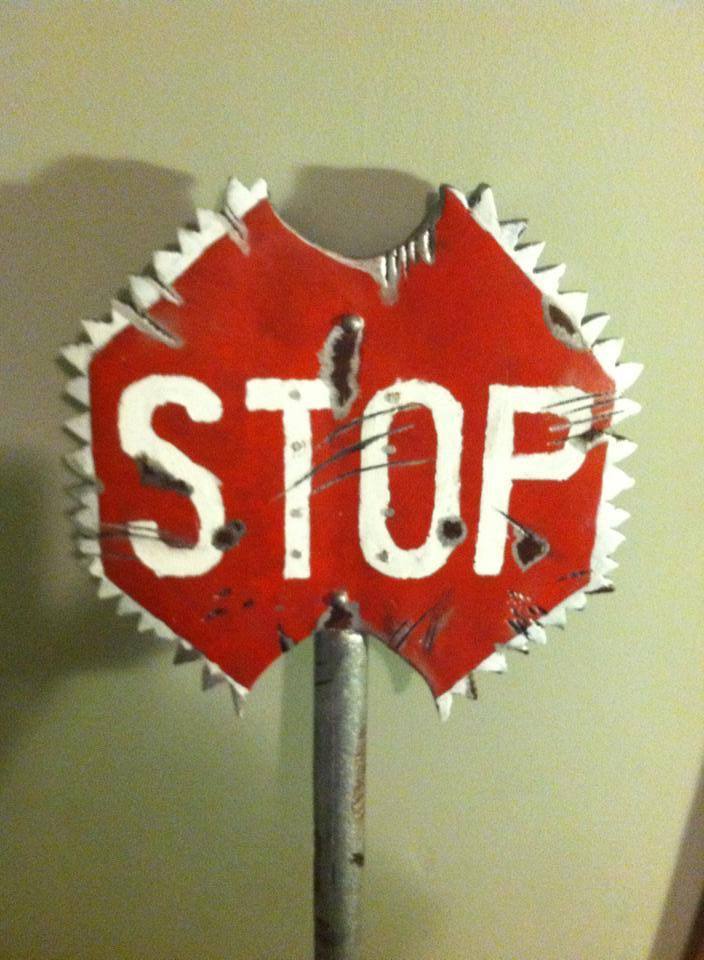 Stop Sign Ax front