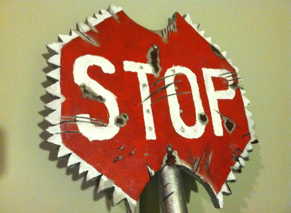 Stop Sign Ax