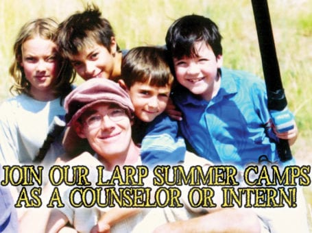 Counselors needed for kids larp!